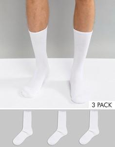 3 пары белых носков Calvin Klein Performance - Белый