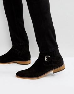 Черные замшевые ботинки с пряжками House Of Hounds - Черный