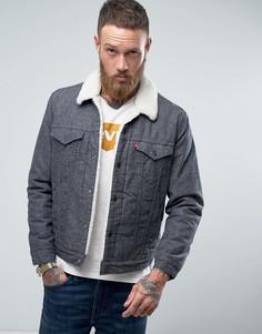 Серая куртка с подкладкой из искусственного меха Levis Type 3 - Серый Levis®