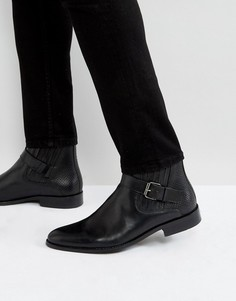 Черные кожаные ботинки с пряжками House Of Hounds Adrian - Черный