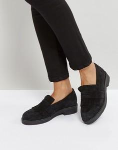 Замшевые ботинки на плоской подошве Office Farrow - Черный