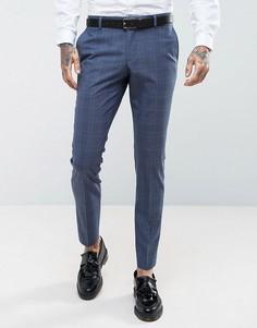 Синие брюки скинни в клетку Selected Homme Wedding - Синий