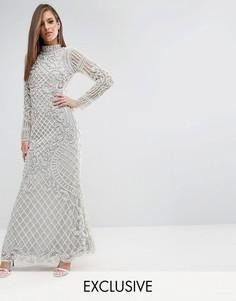 Платье макси с отделкой в стиле барокко A Star Is Born - Серебряный