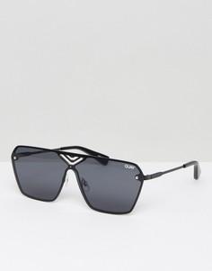 Солнцезащитные очки в квадратной оправе Quay Australia Stargaze - Черный