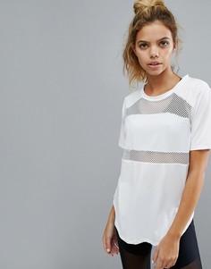 Белая футболка с сетчатыми вставками Varley - Белый
