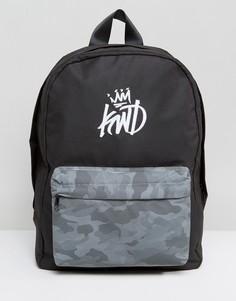 Черный рюкзак со светоотражающим карманом Kings Will Dream - Черный
