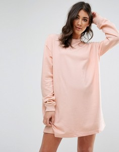 Платье-футболка телесного цвета в стиле оверсайз Missguided - Розовый