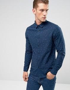 Рубашка слим с пестрым принтом Only & Sons - Темно-синий