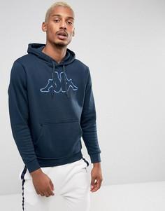 Худи с большим логотипом Kappa - Темно-синий