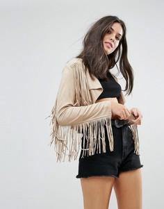 Куртка с бахромой Glamorous - Коричневый