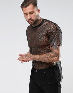 Оверсайз-футболка удлиненного кроя ASOS - Черный
