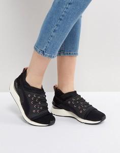 Черные кроссовки с отделкой металлик Puma Pearl - Черный