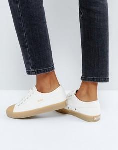 Бежевые кроссовки на резиновой подошве Gola Coaster - Белый