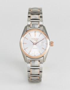 Часы с золотисто-розовой отделкой и браслетом из нержавеющей стали Roamer - Серебряный