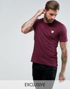 Бордовая обтягивающая футболка с логотипом на груди Good For Nothing - Красный
