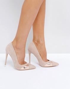 Телесные туфли на каблуке Public Desire Arno - Бежевый
