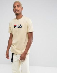 Футболка песочного цвета с логотипом Fila - Светло-серый