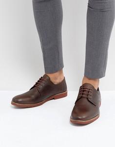 Коричневые кожаные туфли дерби Red Tape - Коричневый
