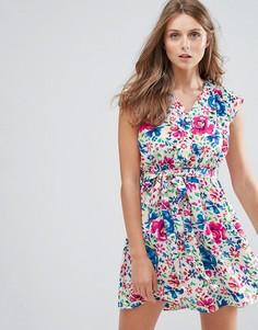 Платье с цветочным принтом Anmol - Синий