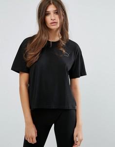 Укороченная футболка Puma - Черный