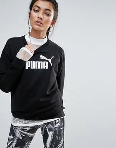 Черный свитшот Puma Essentials - Черный
