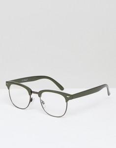 Зеленые солнцезащитные очки в стиле ретро AJ Morgan Soho - Зеленый
