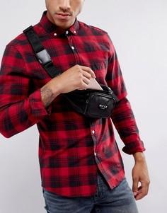 Черная сумка-кошелек на пояс из искусственной кожи Nicce London - Черный