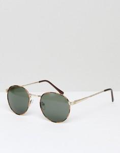 Круглые солнцезащитные очки AJ Morgan Belmont - Золотой