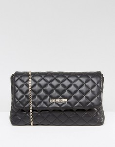 Стеганая сумка с ремешком-цепочкой Love Moschino - Черный