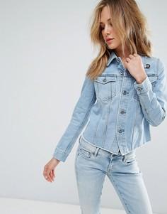 Джинсовая куртка с рваной отделкой G-Star 3301 - Серый