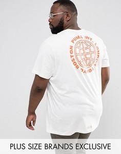 Белая оверсайз-футболка с принтом на спине Puma PLUS эксклюзивно для ASOS 57659102 - Белый