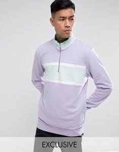 Фиолетовый свитшот с короткой молнией Puma эксклюзивно для ASOS - Фиолетовый