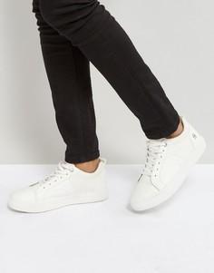 Белые кроссовки с отделкой из кожи и денима G-Star - Белый