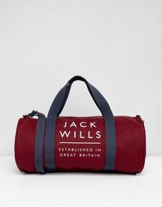 Спортивная сумка с логотипом Jack Wills - Красный