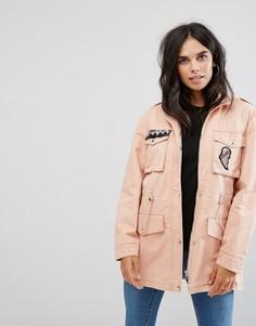 Куртка с нашивками Noisy May Lex - Розовый