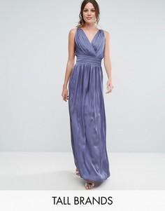 Платье макси с запахом Little Mistress Tall - Фиолетовый