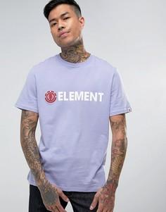 Футболка с крупным логотипом Element Blazin - Фиолетовый