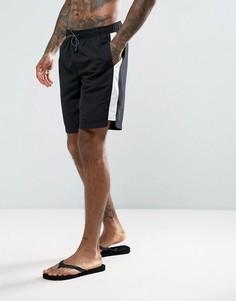 Черные шорты для плавания со вставками New Look - Черный