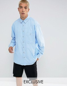 Свободная полосатая рубашка Reclaimed Vintage Inspired - Синий