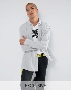 Свободная полосатая рубашка Reclaimed Vintage Inspired - Белый