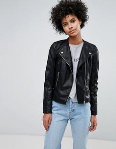 Байкерская куртка из искусственной кожи Vero Moda - Черный