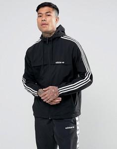 Черная ветровка в полоску adidas Originals 3 BR2153 - Черный
