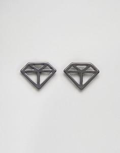 Серебристые уголки для воротника в форме ромбов DesignB London эксклюзивно для ASOS - Серебряный