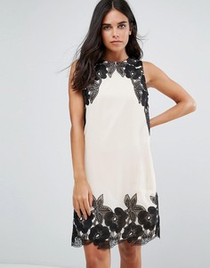 Платье с цветочной отделкой Little Mistress - Бежевый