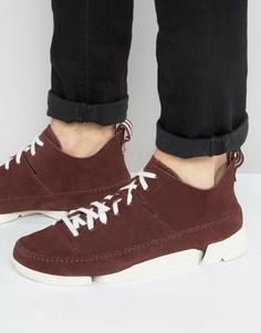 Замшевые кроссовки Clarks Original Trigenic Flex - Красный