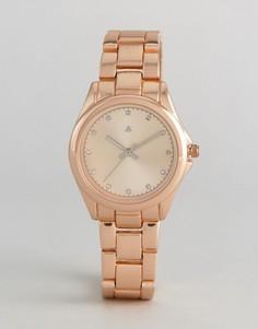 Матовые часы цвета розового золота ASOS - Медный