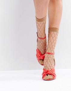 Сетчатые носки с блестками ASOS - Золотой