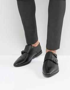 Черные кожаные монки ASOS - Черный