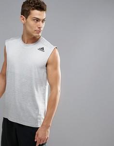Серая футболка без рукавов adidas Training CD9002 - Серый
