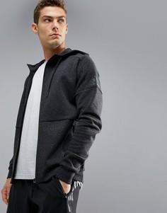 Худи черного цвета на молнии adidas Athletics Stadium S98783 - Черный